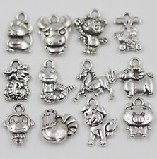 New 20Pc/50Pc Tibet Silver Animal Charm Pendant For Jewelry Findings