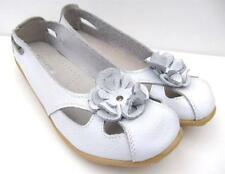 WOMENS Comfort Soft LEATHER FLATS Ballet SHOES Sz 7.8.9.10 WALK White SHOES