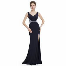 Ever pretty dance dress Sexy V-neck Split Sleeveless Long Evening Dress 08768