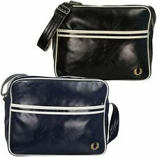Mens Fred Perry Classic Shoulder Retro Record Messenger Bag