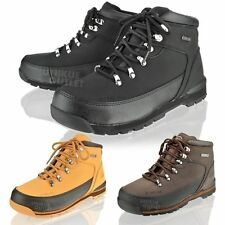 MENS SAFTEY STEEL TOE CAP GROUNDWORK HIKING LACE UP ANKLE WORK BOOTS SHOE SIZE