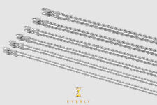 """1.25mm - 3mm 14k Solid Rope Diamond Cut White Gold Chain Necklace Unisex 16""""-30"""""""