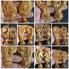 South Indian 22K Gold Plated Full Ear  Variations Different Jhumka Earrings Set