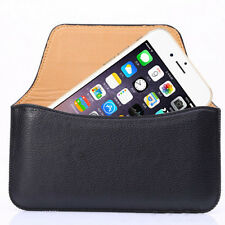 Leather Pouch for Apple iPhone 6 6s Plus Carrying Case Belt Holster Cover Black