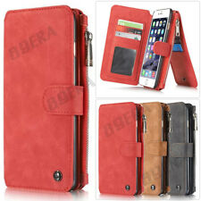 Flip Leather Zipper Wallet Credit Card Slots Bag Handbag Case For iPhone Series