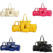 6pcs Fashion Women Crocodile Leather Handbag Shoulder Bag Large Tote Purses SP1
