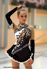 Ice skating dress  figure roller skater dance show costume twirling Rock`n Roll