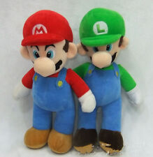 "Super Mario Bros. Stand LUIGI & MARIO Plush Doll Stuffed Toy 10""  W013"