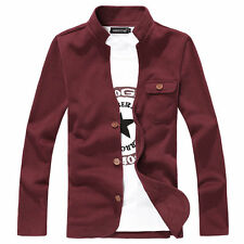 New Men's Stylish Slim Long Sleeve Stand Collar Hoodie Casual Coats Jackets