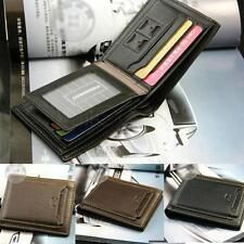 Hot Men Bifold Business Leather Wallet Card Holder Coin Pocket Money Bag Purse