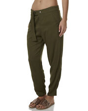 New Just Add Sugar Women's Alibi Womens Pant Viscose Womens Army Military Green