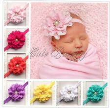 Baby Girl Kids Hollow Flower Headband Pearl Elastic Hairband Headwear Party Gift