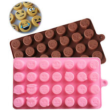 Emoji Face Cake Chocolate Cookie Ice Cube Soap Silicone Mold Tray Baking Mould