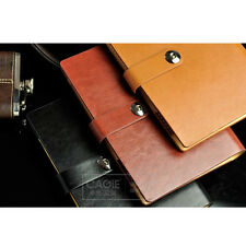 A6 Personal Loose Leaf PU Leather Notebook Diary Ruled Planner Journal Note Memo