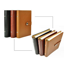 A5 Loose Leaf PU Leather Notebook Diary Ruled Planner Journal Organiser Note