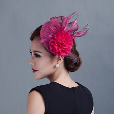 Women SINAMAY HAT fascinator Flower Feather Formal Race Party Wedding Hair Hat