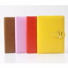 Leather Colorful Notebook Schedule Monthly Planner Diary Journal Note Memo Plan