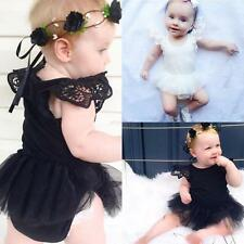 Newborn Baby Girls One-Piece Romper Jumpsuit Bodysuit Tutu Dress Clothes Outfit