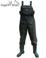 Wildfish Chest Wader with Integrated Boots and Front Pocket - Fishing Waders