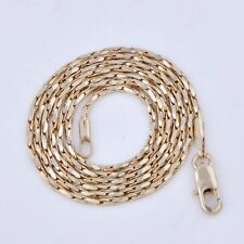 Yellow Sold Gold Filled Real Mens Long Vintage Jewelry Chain Necklace 17-21 inch