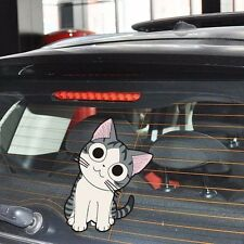 S M Chi Cat Crooked Neck Eyelid Side Door Random Body Car Stickers Wall Decals