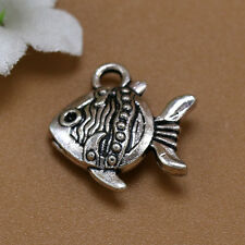Lot 20/50/200pcs Retro Style Lovely Tropical Fish Alloy Charms Pendants 15x15mm