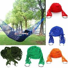 Nylon Portable Hammock Hanging Mesh Sleeping Bed Swing Outdoor Travel Camping