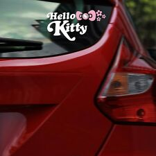 Hello KT Cat Bow Flower Eyelid Eyebrow Side Door Bumper Wall Decals Car Stickers