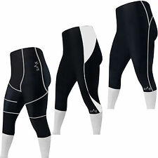 Cycling Tights 3/4 Shorts Padded Summer Cycle Trousers Leggings Shorts S to XXL
