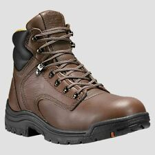 "Timberland PRO Boots Mens TiTAN 6"" Soft Toe Brown Work Boots 24097"