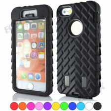 Armor Tire Stripe Soft Rubber Hard Plastic Combo Rugged Case For Apple iPhone