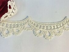 """2"""" Wide, Pretty Baby Doll Scalloped Lace Rayon Trim, 2 Yards, Black"""