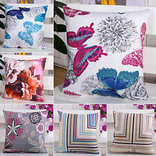 WOW Vintage Square Flower Throw Pillow Cover Cushion Case Sofa Bed Home Decor