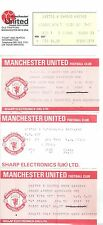 MANCHESTER UNITED V SUNDERLAND-FA CUP REPLAY TICKET 29-1-1986