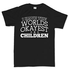 Worlds Okayest Children Father's Day Gift for Dad Daddy T shirt Tee Top T-shirt