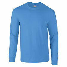 Gildan Ultra Cotton Mens Long Sleeve Crew Neck T Shirt 100% Cotton - 2400