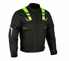 altimate Mens Green Flash Motorcycle dualsport  Jacket removable Vest waterproof