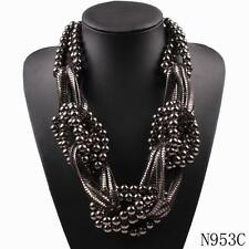 chunky necklace big statement bead ball choker pendant necklace for women jewel