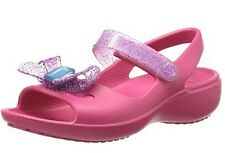 Free Shipping CROCS Girls Keeley Springtime Mini Wedge Mary Jane Raspberry Pink