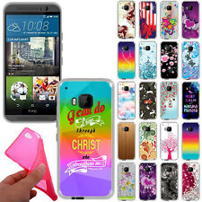 For HTC One M9 Design TPU Slim Flexible Gel Silicone Rubber Skin BACK Case Cover