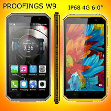 """New Kenxinda W9 Unlocked GSM Android 5.1 6"""" Cell Phone 4G Outdoor IP68 Waterpoof"""