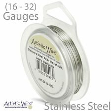 STAINLESS STEEL Artistic Wire TARNISH Resistant Craft Wire (Large Size)