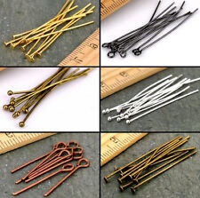 New 20mm 30mm 40mm 50mm Eye Pin Flat Head Pin Ball Pin Jewelry Findings