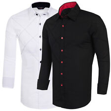 New 2016 Collection Men Stylish Formal Casual Slim Fit Dress Shirt Tee Tosp Long