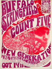 Buffalo Springfield Count Five 1966 Wall Print POSTER