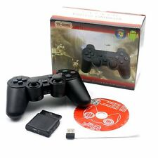 2x 2.4G Wireless Dual Vibration Gamepad Controllers Joystick for PC/PS1/PS2/PS3