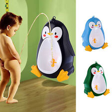 Cute Penguin Kids Boys Potty Toilet Training Baby Toddler Urinal Pee Trainer New