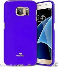 Genuine MERCURY Goospery Purple Soft Jelly Case Cover Skin For Samsung Galaxy S6