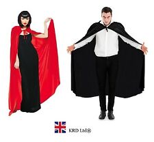 Adult VAMPIRE DRACULA SUPERHERO LONG CAPE Fancy Dress Costume Halloween Party