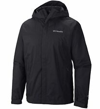 New Columbia mens waterproof Omni Tech hooded rain jacket XXL Black